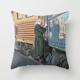 A Departure Throw Pillow