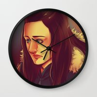 jem Wall Clocks featuring In the Flesh - Jem Walker by SandraG.N.