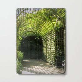 Under the garden arches of Versailles  Metal Print