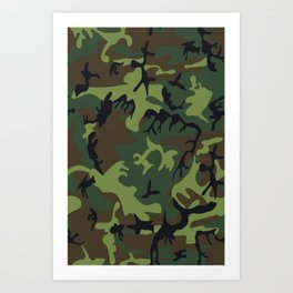 Military camouflage,soldiers pattern decor. Art Print