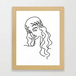 Couronne d'olivier Framed Art Print