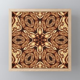 Fractal Filament Blast Pattern Framed Mini Art Print