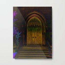 Yellow Church Doors Metal Print