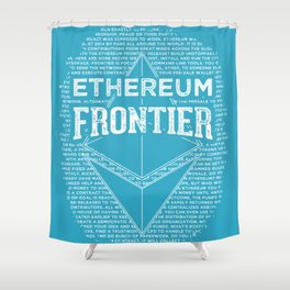 Ethereum Frontier (blue base) Shower Curtain