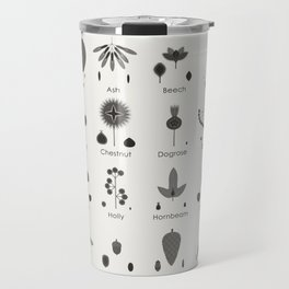 Infographic Guide for Tree Fruits, Nuts, Cones and Seeds Travel Mug