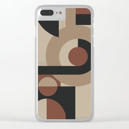 Geometric Pattern Neutral Clear iPhone Case