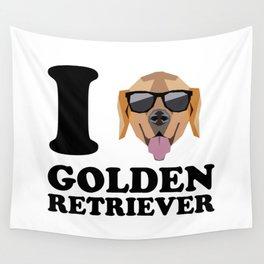 I Love Golden Retriever modern v1 Wall Tapestry