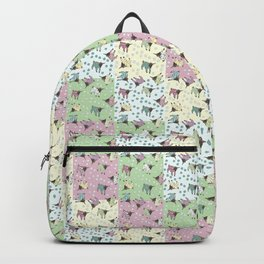 Pajama'd Baby Goats - Small Patchwork Backpack