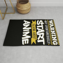 Talking About Anime Funny Manga Gift Rug