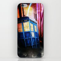 dr who iPhone & iPod Skins featuring dr who by shannon's art space