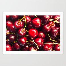 juicy cherries Art Print