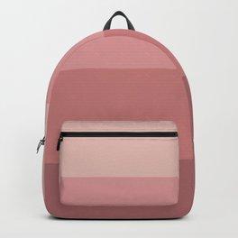 Minimal Retro Sunset / Sunrise - Warm Pink Backpack