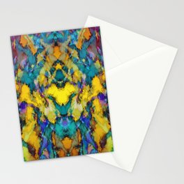 Yellow colour reaction Stationery Cards