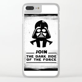 Blak Brush - Star Join the dark side of the force Vader Wars Clear iPhone Case