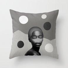 Choose your mood B&W Throw Pillow