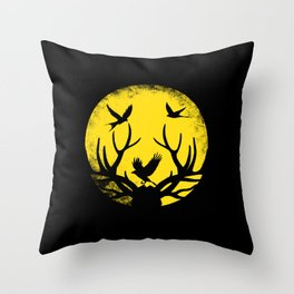 Nature in the moonlight Throw Pillow