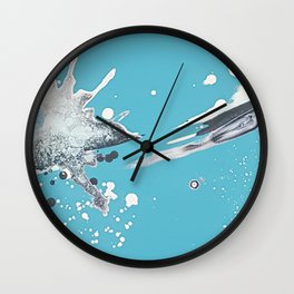 Blue skies of grey - made with unicorn dust by Natasha Dahdaleh Wall Clock