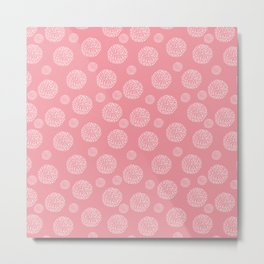 Mosaic in Pink and White Metal Print