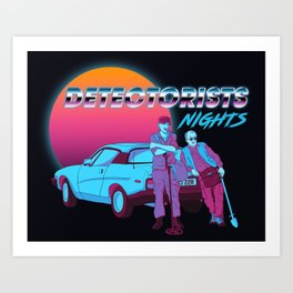 Detectorists Nights - DMDC - Lance & Andy Art Print