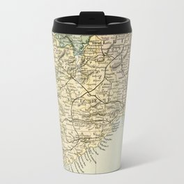 Vintage and Retro Map of Southern Ireland Travel Mug