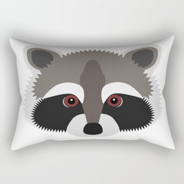 Raccoon Face Rectangular Pillow