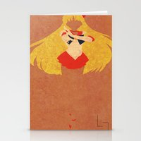 sailor venus Stationery Cards featuring Sailor Venus by JHTY