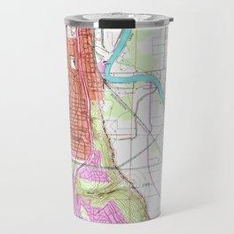 Vintage Map of Everett Washington (1953) Travel Mug