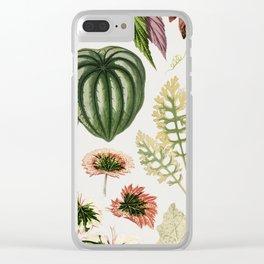 Botanical Print Clear iPhone Case