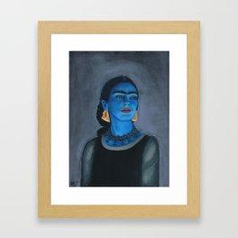Blue Frida Framed Art Print