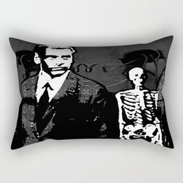 Dr. Hughes And The Skeleton In His Classroom Rectangular Pillow