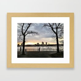 Evening Jog Framed Art Print