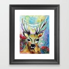 Deer Heart Framed Art Print