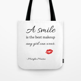 Marylin monroe Quote typography  Tote Bag