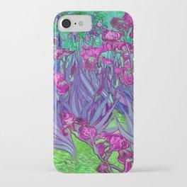 Vincent Van Gogh Irises Painting Violet Fuchsia Palette iPhone Case