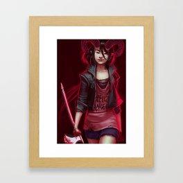 Devil (#Drawlloween2016 Series) Framed Art Print