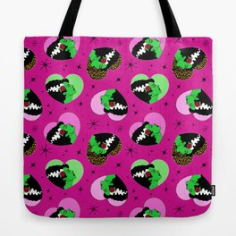Bride of Frankie Hearts in Lipstick Pink Tote Bag