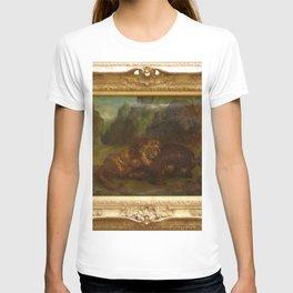 Eugne Delacroix - Lion et Sanglier T-shirt