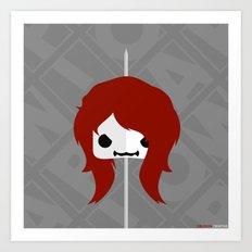 Marshmallow Black Widow Art Print