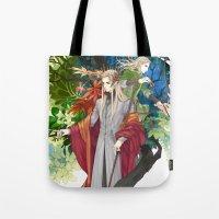 legolas Tote Bags featuring Thranduil & Legolas by kagalin