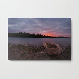 Sunrise Glow At Chasewater Metal Print