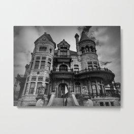 Galveston - Bishop's Palace 001 BW Metal Print