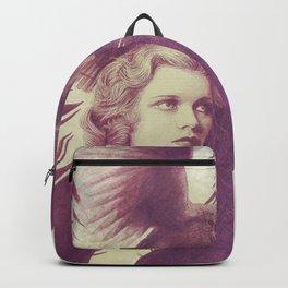 Purple vintage girl with raven Backpack