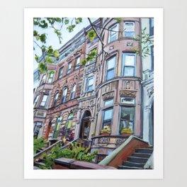Prospect Heights Brooklyn Brownstone Art Print