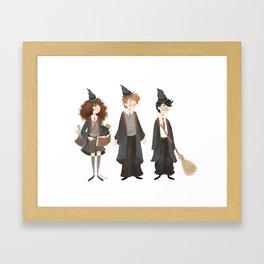 Ickle firsties Framed Art Print