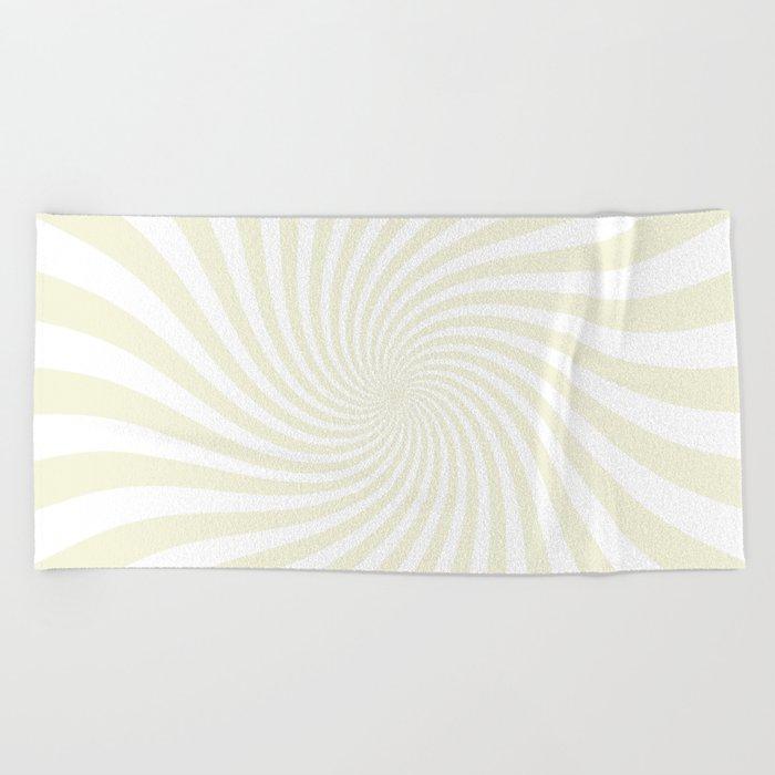 Swirl (Beige/White) Beach Towel