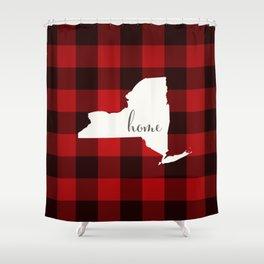 New York is Home - Buffalo Check Plaid Shower Curtain
