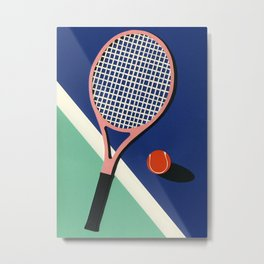 Malibu Tennis Club Metal Print