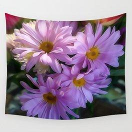 Purple Shasta Daisy Wall Tapestry