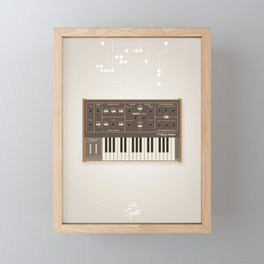 The Synth Project - Moog Prodigy - Updated Framed Mini Art Print