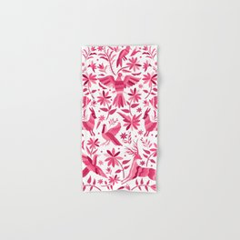 Mexican Otomi Design in Pink Hand & Bath Towel
